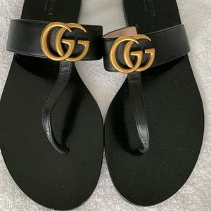 Gucci Black Marmont Sandals size 38.5